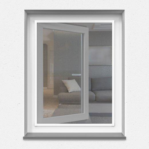 Moskitiera ramkowa na okno, Biała, 60 x 150 cm