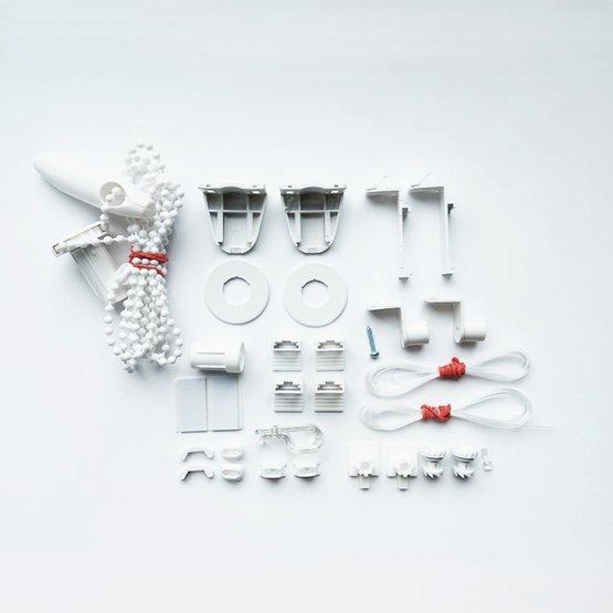 Zestaw montażowy do rolet materiałowych bezinwazyjnych premium z prowadzeniem bocznym