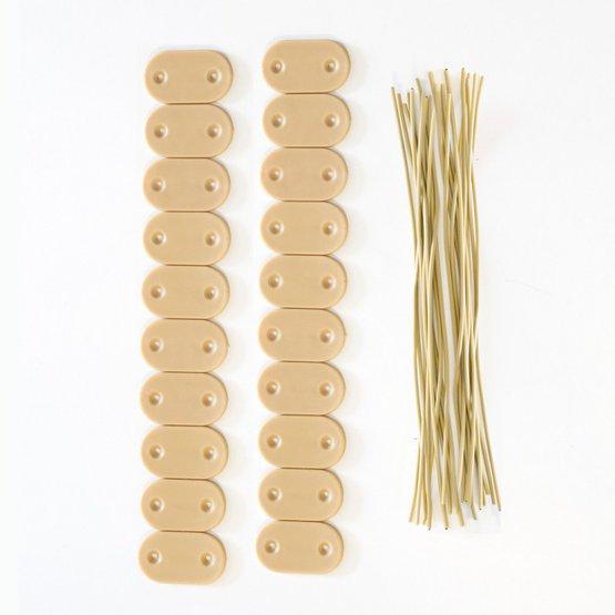 Elementy mocujące do płotków ogrodowych PVC