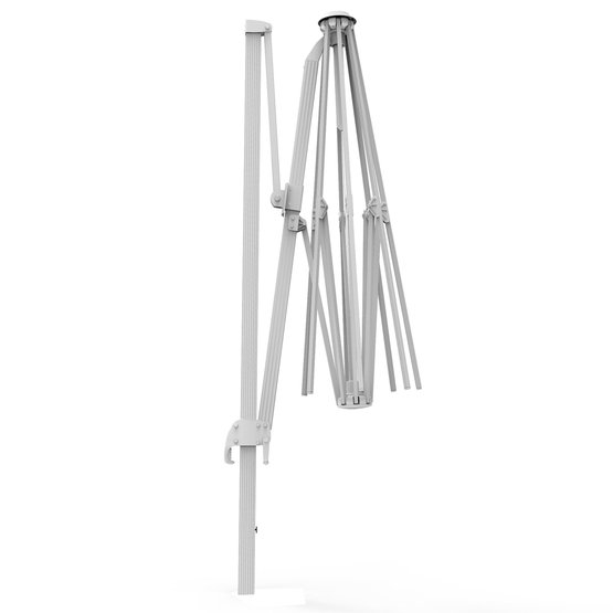 Stelaż aluminiowy do okrągłego parasola na wysięgniku 3,5m