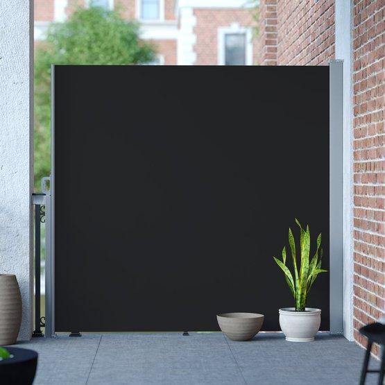 Markiza boczna gotowa, czarna 160 x 300 cm, Promocja